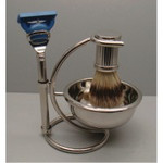 Comoy Chrome Fusion Shave Set with Bowl