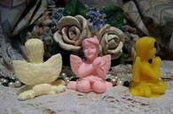 Silicone Small Fairy Sitting Soap Candle Tart Mold