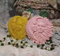 Silicone Sun Moon Goddess Soap Candle Tart Mold