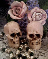 Silicone Small Skull Soap Candle Mold 2 Cavity