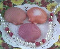 Silicone SeaShell Sea Shell Soap CandleTart Mold 2 Cav