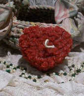 Silicone Rose Covered Heart Candle Mold 2010
