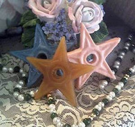 Silicone Primitive Barn Star  W/ Hole Soap Candle Mold