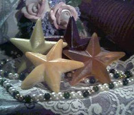 Silicone Primitive Barn Star Soap Candle Mold Medium