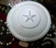 Silicone Nantucket Weave With Starfish Soap Candle Mold