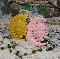 Silicone Moon Goddess Soap Candle Tart Mold