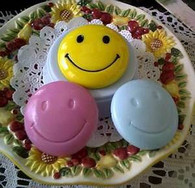 Silicone Little Happy Smiling Face Soap Candle Mold