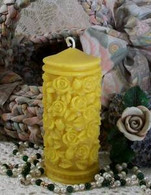 Silicone Small Rose Pillar Candle Mold 2013