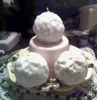Silicone Little  Snowball  Soap Candle Mold