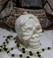 Silicone Large Skull With Spider Candle Mold