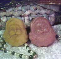 Silicone Jolly Old Santa Head Soap Candle Tart Mold