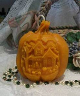 Silicone Haunted House Pumpkin Candle Mold