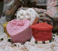 Silicone Flower Heart Soap Candle Mold #2010