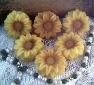 Silicone Daisy  Sunflower Candle Soap Mold 4 Cavity