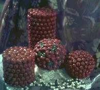 Silicone Cranberry Cran Berry Ball W Leaves Candle Mold
