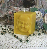Silicone Buddha Small Square Candle Mold #4