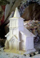 Silicone Church With Steeple Candle Mold