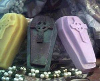 Silicone Coffin Gothic Celtic Cross Soap Candle Mold #3