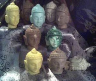 Silicone Buddha Head  #1 Soap Candle  Mold
