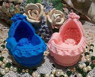 Silicone Baby Bed Bassinet Soap Candle Mold