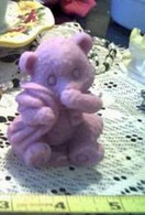 Silicone Baby Bear With A Blanket Soap Candle Mold
