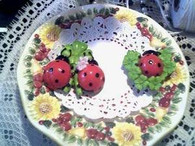 Silicone 2 Ladybugs on Leaf Lady Bug Soap Candle Mold