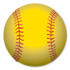 "Softball, also called ladies' baseball, is played in 110 countries around the world. The yellow ""optic"" covering became the norm for competitive play in 2004. Let this softball magnet be an eyecatcher on your vehicle or locker!"
