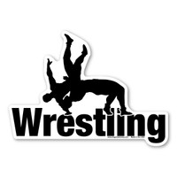 Wrestling was popular in Greece, Egypt, and China. It was introduced to the Olympic Games in 704 BC.  It is an exhilarating sport of trying to hold or throw your opponent on the ground. Placing this magnet on your car or locker will let everyone know that you love wrestling!