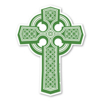 The Celtic cross is a beautiful symbol!  It symbolizes hope, life, honor, faith, unity, balance, and temperance.  Whether you're Irish or you love Celtic crosses, this magnet will look great on any car!