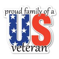 Proud Family of a US Veteran Magnet