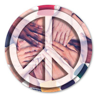 Peace Sign On Hands Magnet