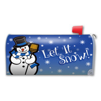 Let Is Snow Mailbox Cover Magnet