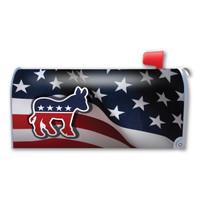 American Flag Democrat Mailbox Cover Magnet