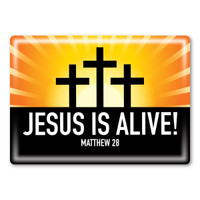 Jesus is Alive Rectangle Button Magnet