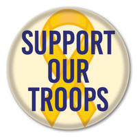 Support Our Troops Circle Button