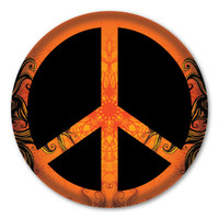 Peace Sign Circle Button