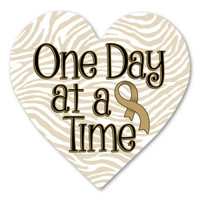 Childhood Cancer One Day at a Time Heart Indoor Magnet