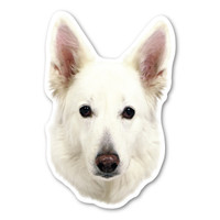 (White) German Shepherd Magnet