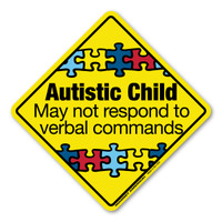 Autistic Child Emergency Alert Magnet