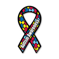Autism Awareness Mini Ribbon Magnet