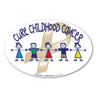 Cure Childhood Cancer Awareness Oval Decal