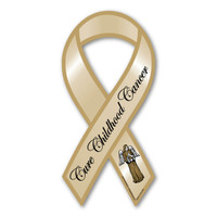 Cure Childhood Cancer Awareness Ribbon Magnet