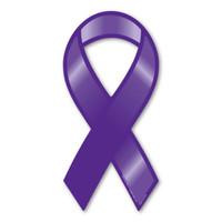 Plain Purple Awareness Ribbon Magnet