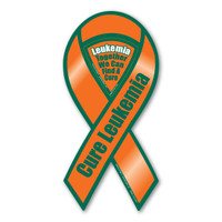 Cure Leukemia Awareness 2-in-1 Ribbon Magnet