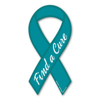 Ovarian Cancer Find A Cure Ribbon Magnet