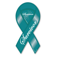 Ovarian Cancer Survivor Ribbon Magnet