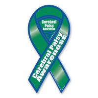 Cerebral Palsy Awareness 2-in-1 Ribbon Magnet