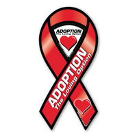 Adoption the Loving Option Awareness 2-in-1 Ribbon Magnet