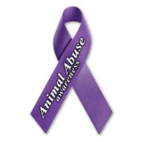 Animal Abuse Awareness Ribbon Magnet