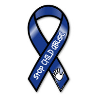 Stop Child Abuse Now Awarenesss 2-in-1 Ribbon Magnet